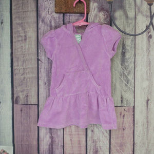 Other - girl terry cloth cover up purple 12 month I26